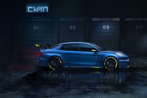 The 500-hp Lynk & Co 03 Cyan