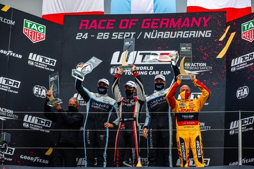 ​Yvan Muller and Yann Ehrlacher defy difficult Nürburgring conditions to double podium