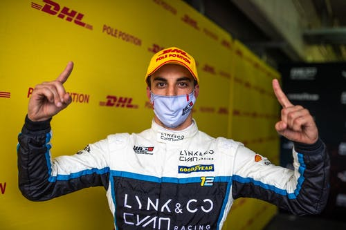 Triple poles for Lynk & Co Cyan Racing as Santiago Urrutia shines in Spain
